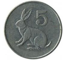 Зимбабве 5 центов 1980-1999