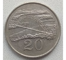 Зимбабве 20 центов 1980-1997