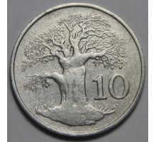 Зимбабве 10 центов 1980-1999