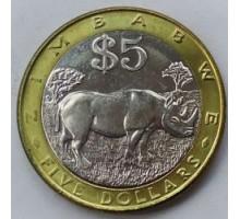 Зимбабве 5 долларов 2001-2003