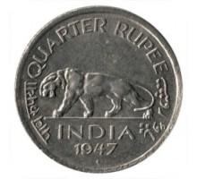 Индия (британская) 1/4 рупии 1946-1947