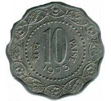 Индия 10 пайс 1971-1978