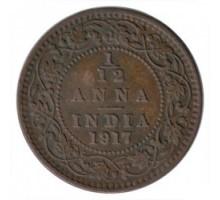 Индия (британская) 1/12 анна 1917
