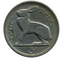 Ирландия 3 пенса 1942-1968