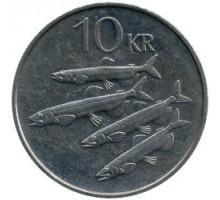 Исландия 10 крон 1984-1994