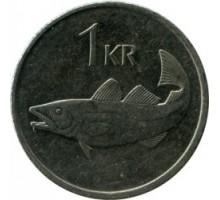Исландия 1 крона 1989-2011