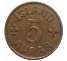 Исландия 5 эйре 1942