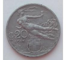 Италия 20 чентезимо 1913