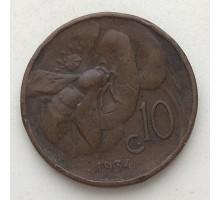 Италия 10 чентезимо 1934