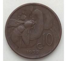 Италия 10 чентезимо 1932