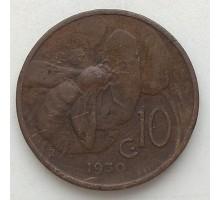 Италия 10 чентезимо 1930