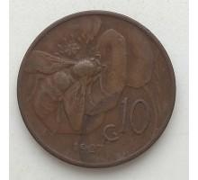 Италия 10 чентезимо 1927