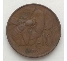 Италия 10 чентезимо 1922