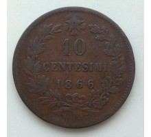 Италия 10 чентезимо 1866