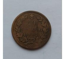 Италия 10 чентезимо 1862