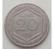 Италия 20 чентезимо 1918