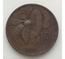 Италия 10 чентезимо 1921