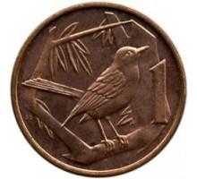 Каймановы острова 1 цент 1999-2017