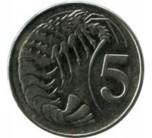 Каймановы острова 5 центов 1999-2013