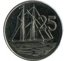 Каймановы острова 25 центов 1999-2017