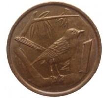 Каймановы острова 1 цент 1987-1990