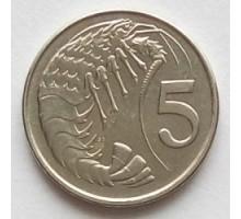 Каймановы острова 5 центов 1992-1996