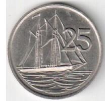 Каймановы острова 25 центов 1972-1986