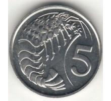 Каймановы острова 5 центов 1972-1986