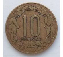 Камерун (Экваториальная Африка) 10 франков 1965-1972