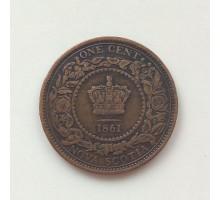 Новая Шотландия 1 цент 1861