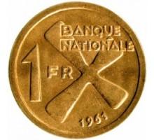 Катанга 1 франк 1961