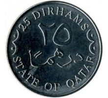 Катар 25 дирхамов 2008-2012