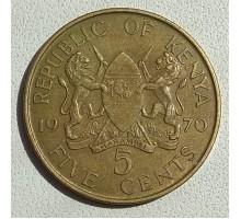 Кения 5 центов 1969-1978