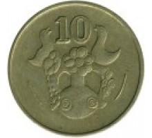 Кипр 10 центов 1985-2004