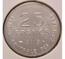 Коморские острова 25 франков 2013