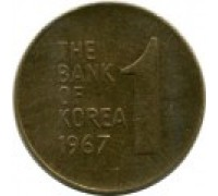 Южная Корея 1 вона 1966 - 1967