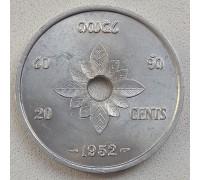 Лаос 20 сантимов 1952