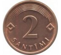 Латвия 2 сантима 1992-2009
