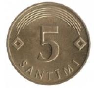 Латвия 5 сантимов 1992-2009