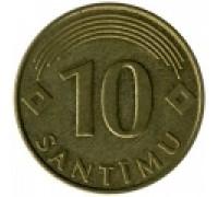 Латвия 10 сантимов 1992-2008