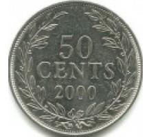 Либерия 50 центов 2000