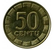 Литва 50 центов 1997-2014