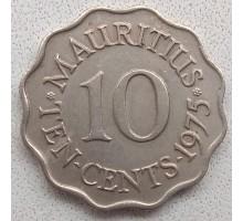 Маврикий 10 центов 1954-1978