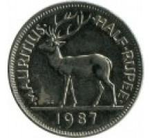 Маврикий 1/2 рупии 1987-2013