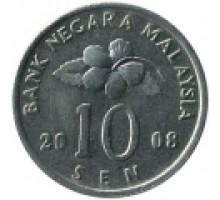 Малайзия 10 сенов 1989 - 2011