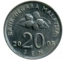 Малайзия 20 сенов 1989-2011