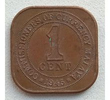 Малайя 1 цент 1945