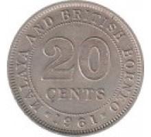 Малайя и Британское Борнео 20 центов 1954-1961