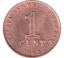 Малайя и Британское Борнео 1 цент 1962