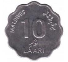 Мальдивы 10 лари 1984-2007